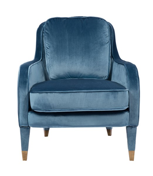 Chic Home Tzivia Blue Velvet Upholstered Accent Club Chair CHIC-FAC2820-CE