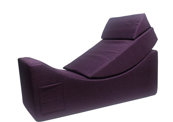 Chic Home Enzyme Purple Faux Linen Adjustable Recliner Accent Club Chair CHIC-FAC2928-CE