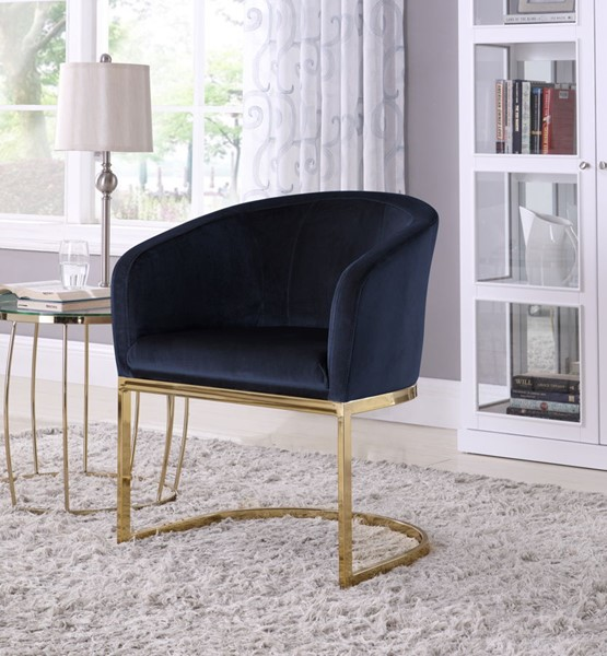 Iconic Home FAC9098-AN Siena Accent Club Chair Shell Design Velvet Upholstered Half-Moon Gold Plated Solid Metal U-Shaped Base Modern Contemporary Taupe