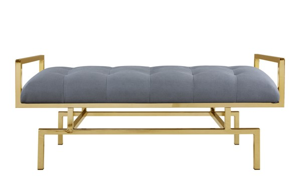 Chic Home Bruno Modern Grey PU Tufted Seat Bench CHIC-FBH2636-CE