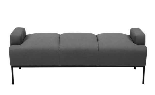 Chic Home Carmel Modern Grey PU Backless Bench CHIC-FBH2787-CE