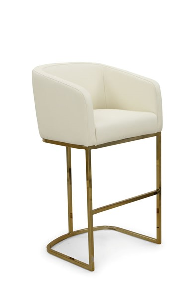 Chic Home Tess Cream PU Upholstered Bar Stool Chair CHIC-FBS9463-CE