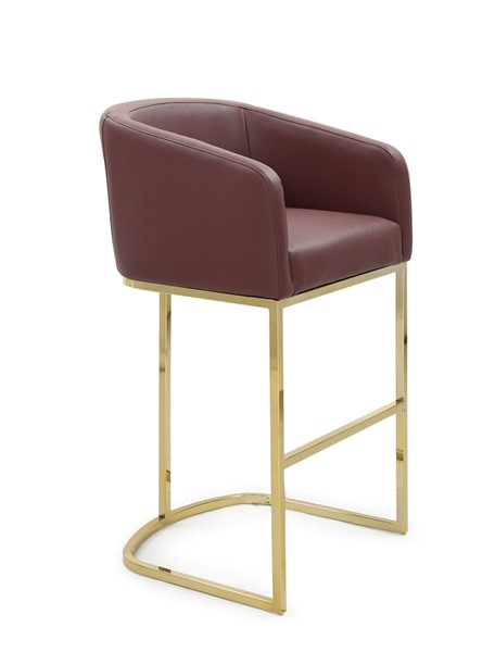 Chic Home Tess Wine PU Upholstered Bar Stool Chair CHIC-FBS9464-CE