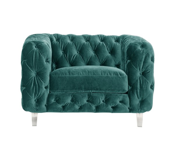 Chic Home Syracus Green Velvet Tufted Back Club Chair CHIC-FCC2652-CE
