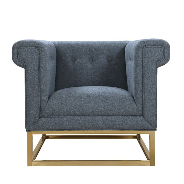 Chic Home Palmira Blue Fabric Button Tufted Accent Club Chair CHIC-FCC2889-CE