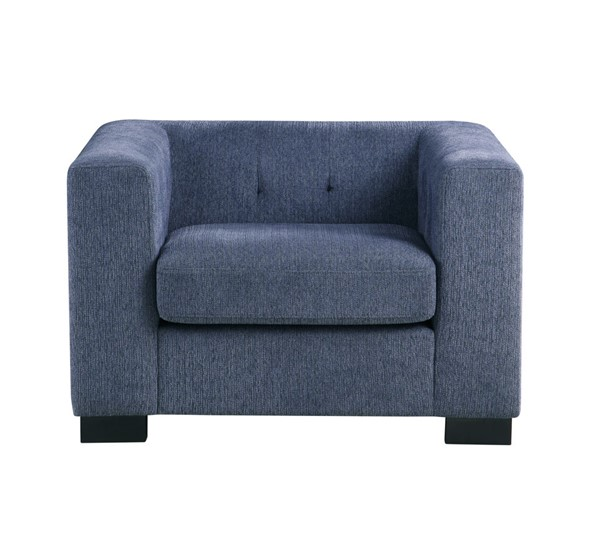 Chic Home Limoges Blue Chenille Button Tufted Back Accent Club Chair CHIC-FCC9197-CE