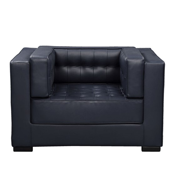 Chic Home Lorenzo Navy PU Tufted Accent Club Chair CHIC-FCC9269-CE
