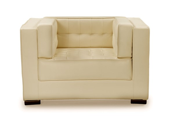 Chic Home Lorenzo Cream PU Tufted Accent Club Chair CHIC-FCC9270-CE