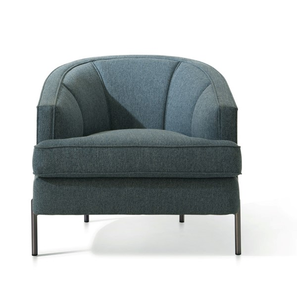 Chic Home Astoria Blue Fabric T Shaped Seat Club Chair CHIC-FCC9377-CE