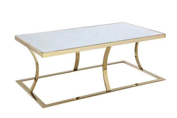 Chic Home Trevi Gold Rectangular Center Coffee Table CHIC-FCT9097-CE