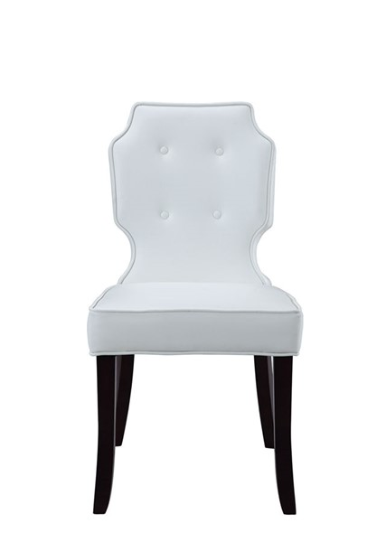 2 Chic Home Lennon White PU Button Tufted Back Dining Chairs CHIC-FDC2596-CE