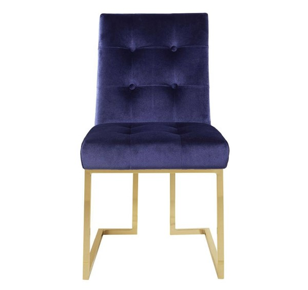 2 Chic Home Liam Navy Velvet Tufted Back Dining Side Chairs CHIC-FDC2702-CE