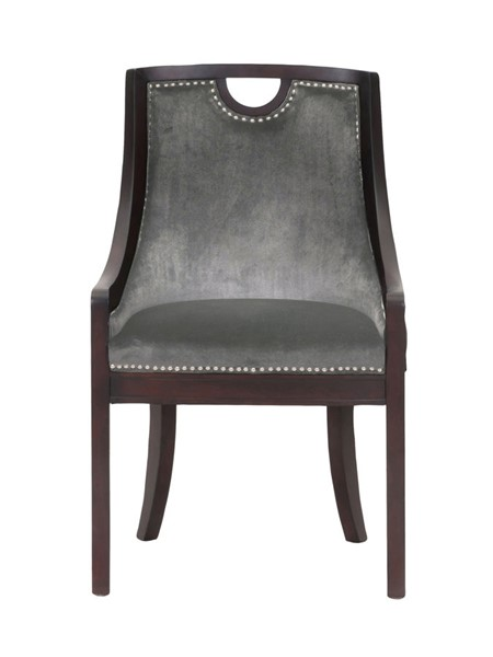 Chic Home Owen Grey Velvet Nailhead Dining Side Chair CHIC-FDC2712-CE