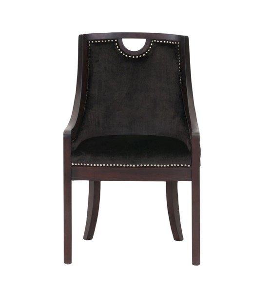 Chic Home Owen Black Velvet Nailhead Dining Side Chair CHIC-FDC2713-CE