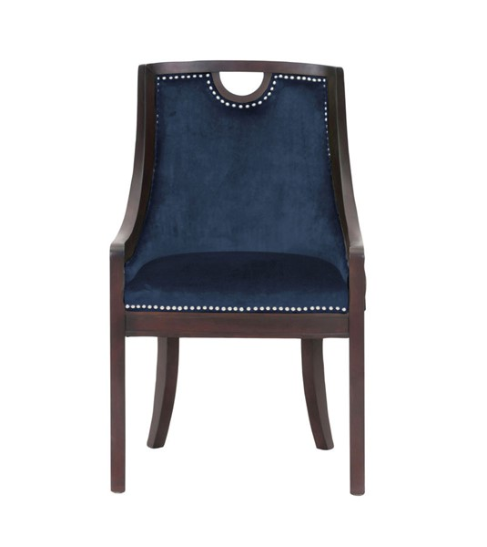 Chic Home Owen Navy Velvet Nailhead Dining Side Chair CHIC-FDC2714-CE