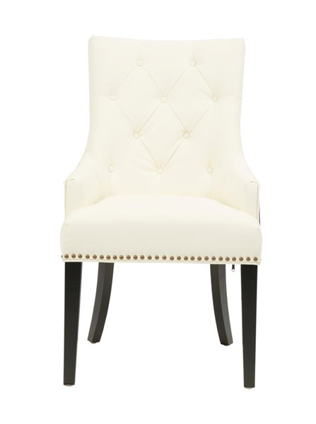 2 Chic Home Cadence Navy White PU Button Tufted Back Dining Side Chairs CHIC-FDC2724-CE