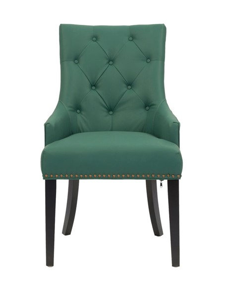 2 Chic Home Cadence Green PU Button Tufted Back Dining Side Chairs CHIC-FDC2725-CE