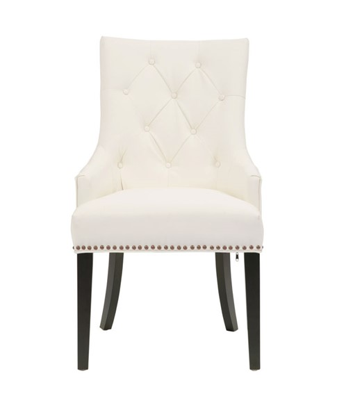 2 Chic Home Cadence White PU Button Tufted Back Dining Side Chairs CHIC-FDC2727-CE
