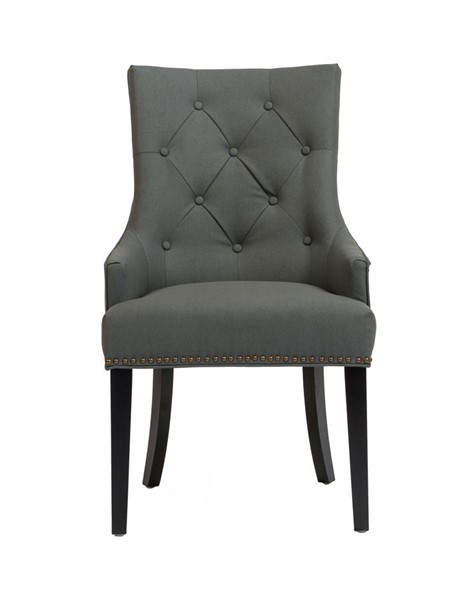 2 Chic Home Cadence Grey PU Button Tufted Back Dining Side Chairs CHIC-FDC2919-CE