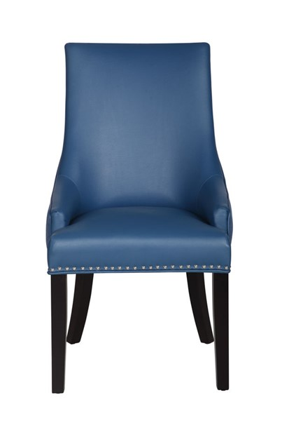 2 Chic Home Brando Navy PU Nailhead Dining Side Accent Chairs CHIC-FDC2986-CE