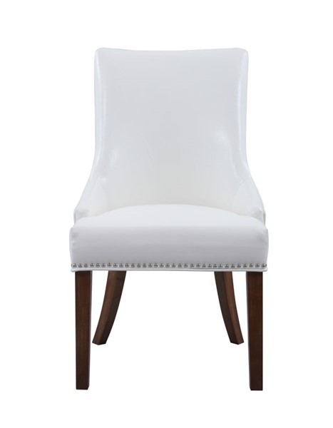 2 Chic Home Brando White PU Nailhead Dining Side Accent Chairs CHIC-FDC2987-CE