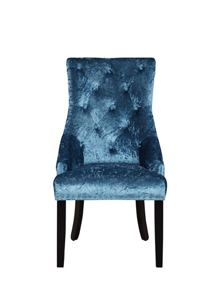 2 Chic Home Raizel Teal Velvet Nailhead Dining Side Accent Chairs CHIC-FDC9077-CE