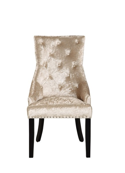 2 Chic Home Raizel Taupe Velvet Nailhead Dining Side Accent Chairs CHIC-FDC9078-CE