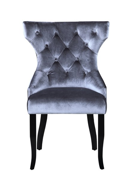 2 Chic Home Naomi Grey Velvet Wing Back Dining Chairs CHIC-FDC9091-CE