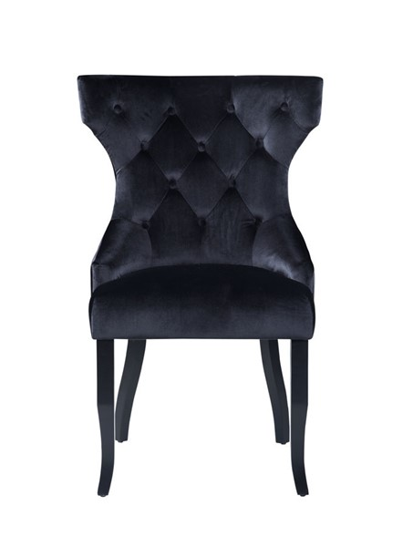 2 Chic Home Naomi Black Velvet Wing Back Dining Chairs CHIC-FDC9093-CE