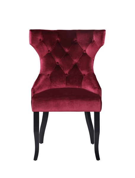 2 Chic Home Naomi Red Velvet Wing Back Dining Chairs CHIC-FDC9094-CE