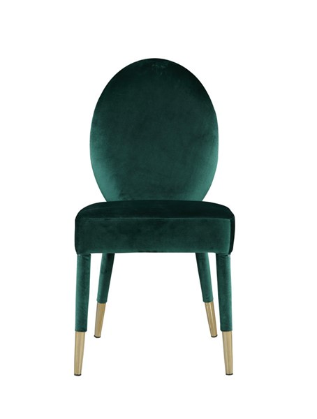 2 Chic Home Leverett Green Velvet Oval Back Dining Chairs CHIC-FDC9115-CE