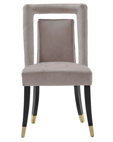 2 Chic Home Elsie Blush Velvet Nailhead Dining Side Chairs CHIC-FDC9504-CE