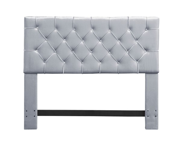 Chic Home Rivka Silver Velvet Diamond Button Tufted Queen Headboard CHIC-FHB9026-CE