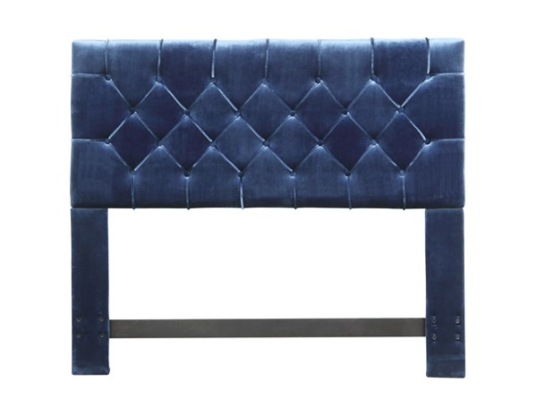 Chic Home Rivka Navy Velvet Diamond Button Tufted Queen Headboard CHIC-FHB9027-CE