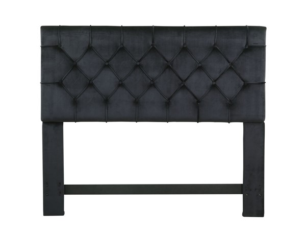 Chic Home Rivka Black Velvet Diamond Button Tufted Queen Headboard CHIC-FHB9028-CE