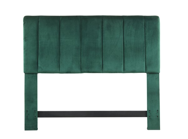 Chic Home Uriella Green Velvet Vertical Striped King Headboard CHIC-FHB9046-CE