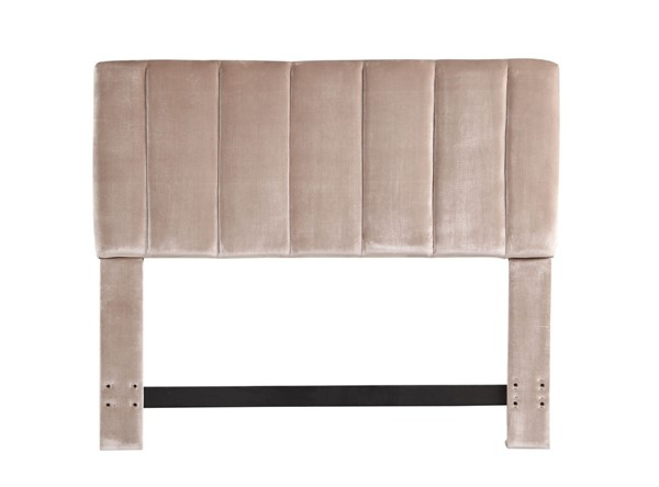 Chic Home Uriella Taupe Velvet Vertical Striped Queen Headboard CHIC-FHB9058-CE