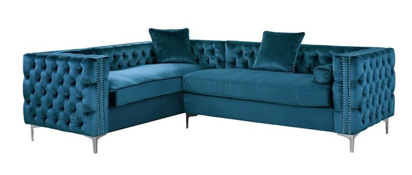 Chic Home Mozart Left Hand Facing Sectional Sofa with 3 Accent Pillows CHIC-FSA258-LSEC-VAR