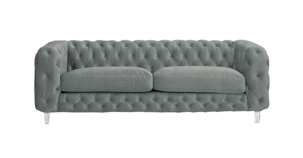 Chic Home Syracus Grey Velvet Tufted Back Sofa CHIC-FSA2655-CE