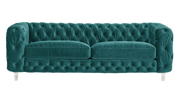 Chic Home Syracus Green Velvet Tufted Back Sofa CHIC-FSA2656-CE