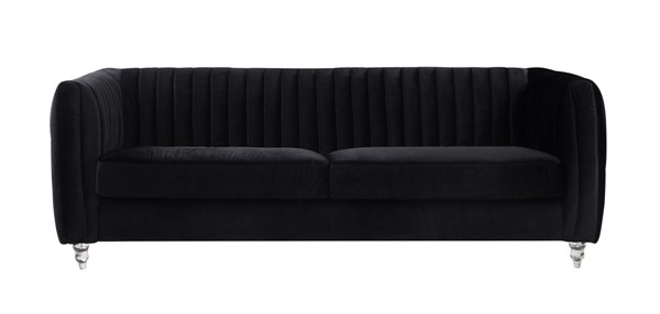 Chic Home Kent Modern Black Velvet Sofa CHIC-FSA2664-CE