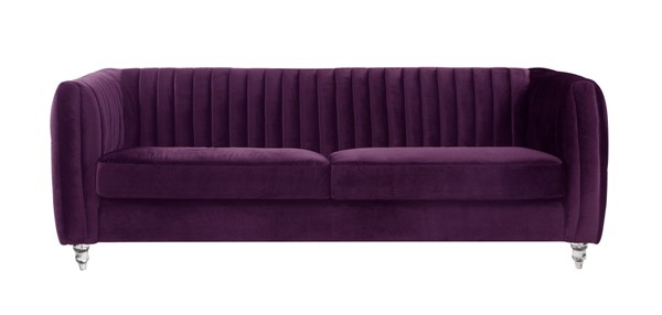 Chic Home Kent Modern Purple Velvet Sofa CHIC-FSA2665-CE