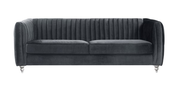 Chic Home Kent Modern Grey Velvet Sofa CHIC-FSA2666-CE