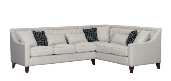 Chic Home Aberdeen Cream Fabric Right Facing Sectional Sofa CHIC-FSA2674-CE