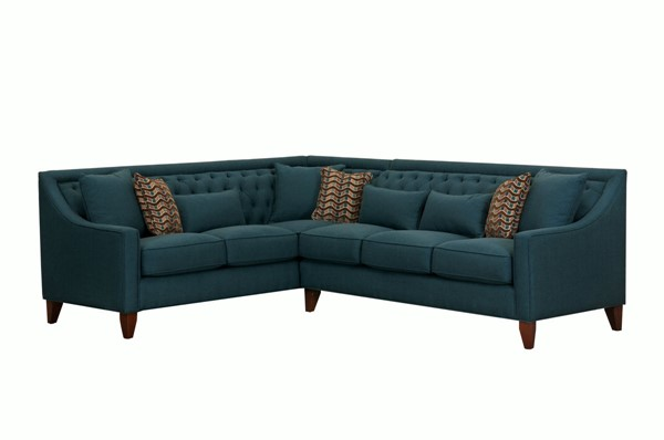 Chic Home Aberdeen Teal Fabric Left Facing Sectional Sofa CHIC-FSA2675-CE