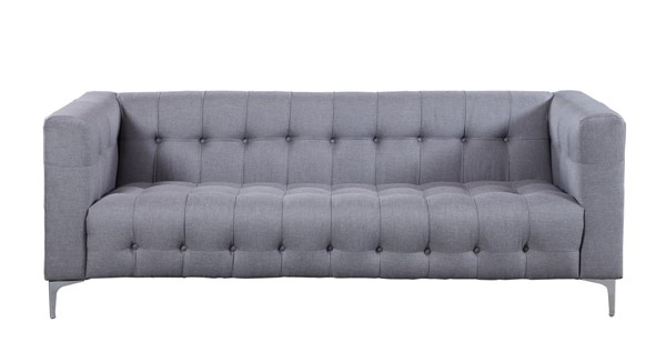 Chic Home Capone Modern Smoke Fabric Tufted Sofa CHIC-FSA2857-CE