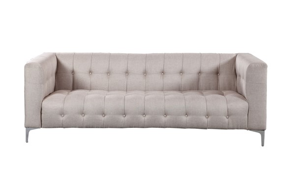 Chic Home Capone Modern Stone Fabric Tufted Sofa CHIC-FSA2859-CE