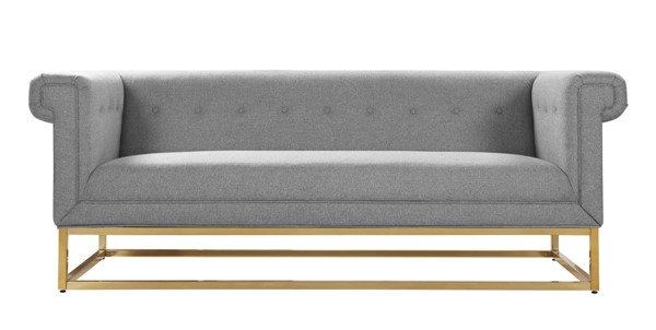 Chic Home Palmira Grey Fabric Button Tufted Sofa CHIC-FSA2891-CE