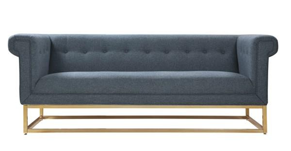 Chic Home Palmira Blue Fabric Button Tufted Sofa CHIC-FSA2892-CE