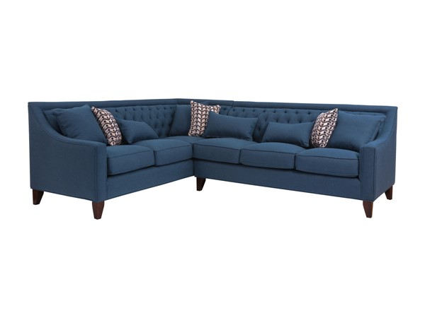 Chic Home Aberdeen Navy Fabric Left Facing Sectional Sofa CHIC-FSA2908-CE
